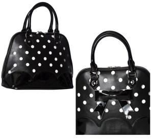 Rockabilly Handtasche gepunktet Shirley Bag Banned
