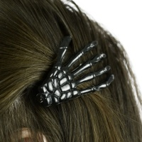 Haarspange Skeletthand