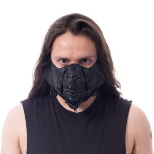 Chor Maske Gesichtsmaske Leder/Nieten Poizen Industries