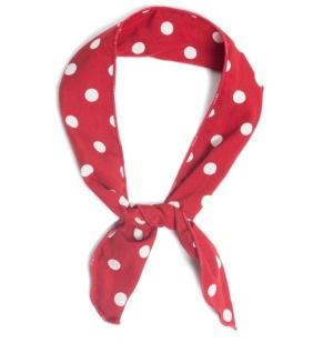 Haarband rot/weiße Punkte