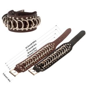 Armband Leder mit Ringen