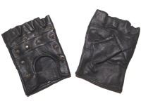 Lederhandschuhe Bikerhandschuh Spitznieten/Fingerlinge