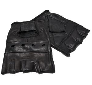 Lederhandschuhe Bikerhandschuhe fingerlos/Fingerlinge