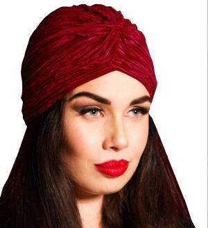 Velvet Turban Vintage Style