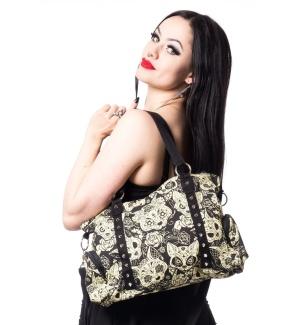 Meowtre Bag Handtasche Katzenmotiv Canvas Tasche
