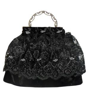 Gothic Abendtasche Handtasche Samt Sinister