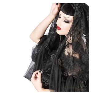 Gothic Brautschleier aus französischer Spitze Sinister