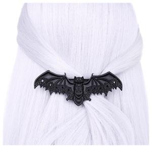 Haarspange schwarz Fledermaus