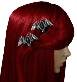 Gothic Haarspangen Fledermaus