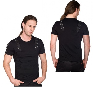 Herren Tshirt im Gothicstil Battle Shirt Aderlass
