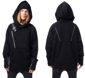 Kapuzenpullover/ Jacke im Gothicstil Chemical Black