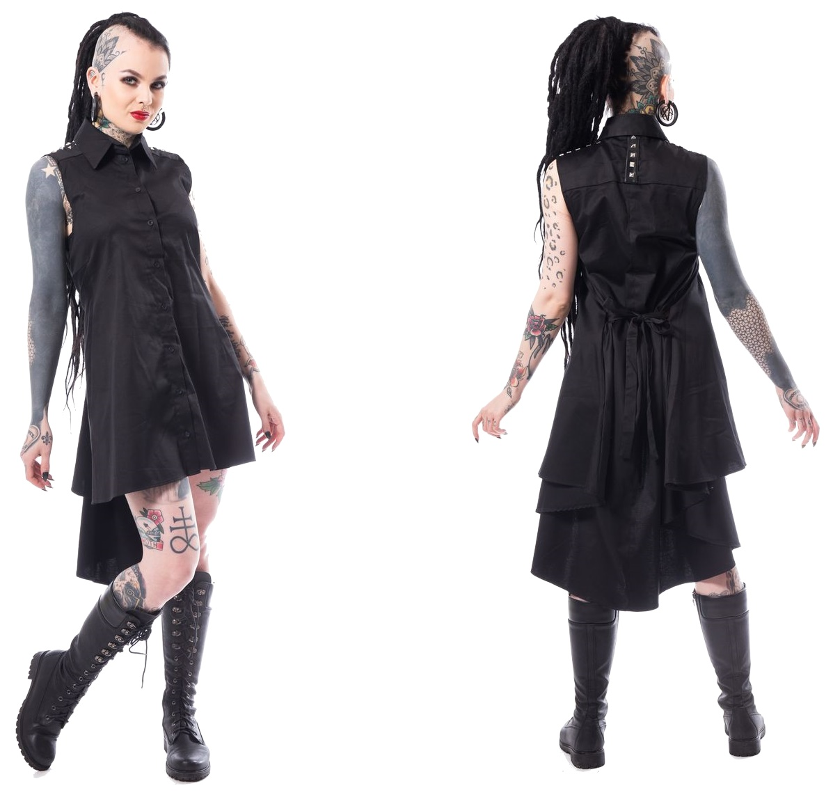 32bdbdbca87c92 After Death Mini Dress Tunika Spin Doctor Plussize in XL - Spin ...