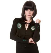 Gothic Cardigan Strickjacke mit Kameo Banned