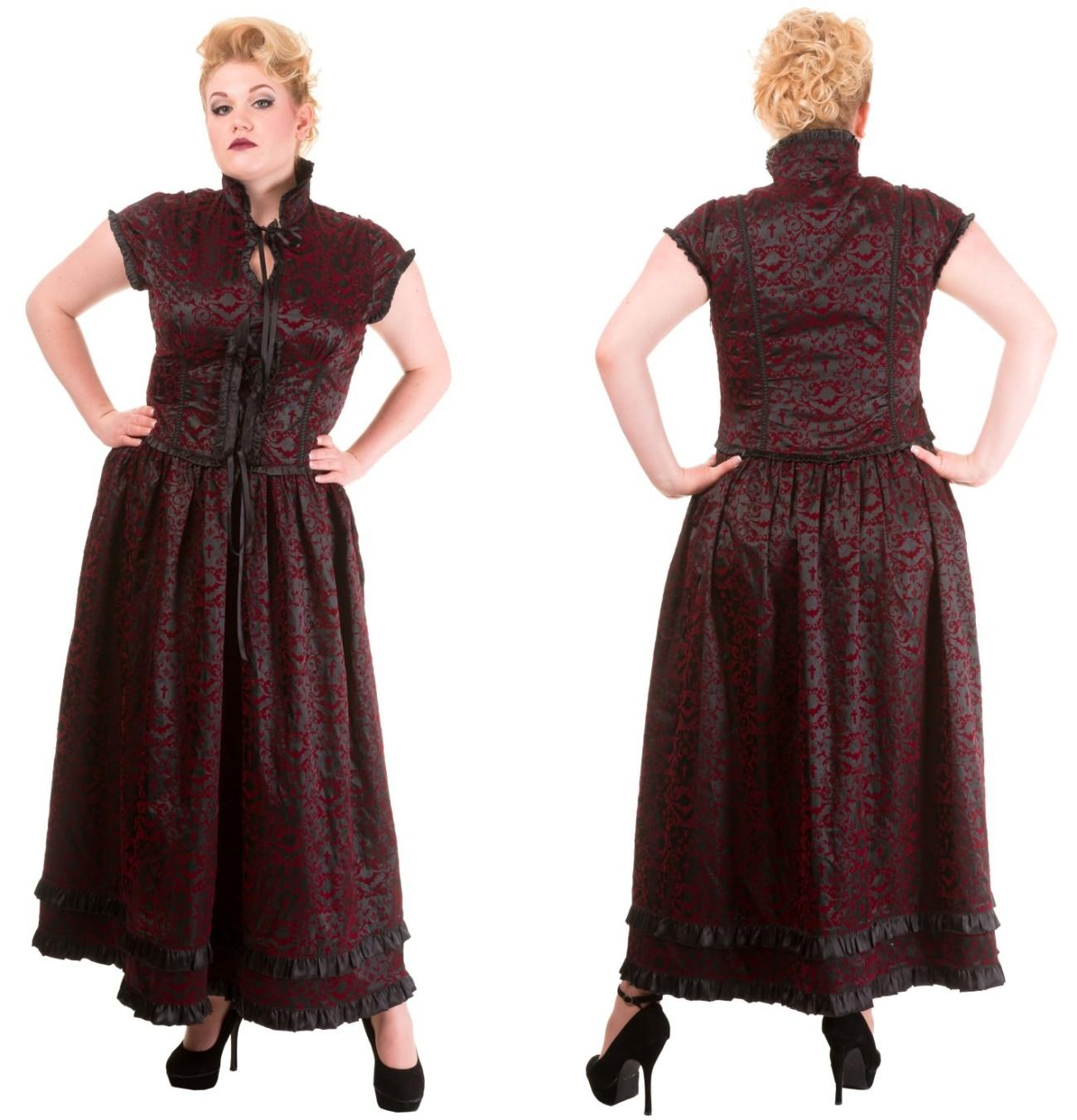 Vintage Gothic Kleid Vine Übergröße Banned - Banned Clothing Shop