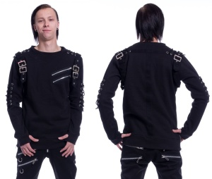 Herren Sweat im Gothicstil Blaze Top Poizen Industries