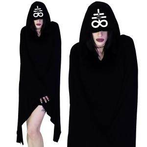 Gothic Kleid mit Kapuze und Trompetenärmeln Dr Faust