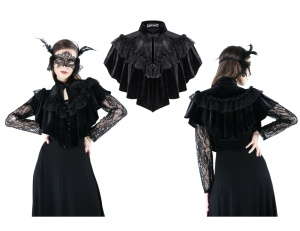 Gothic Cape kurz Dark in Love