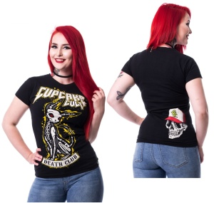 Girl T-Shirt Death Club Cupcake Cult