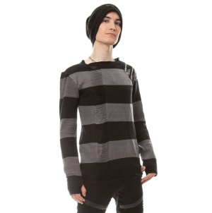 Herren Strickpullover gestreift Drop Dead ShirtVixxsin