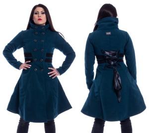 Eliana Coat Damenmantel in petrol mit Schnürung Vixxsin