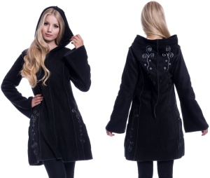 Embroidered Fleece Hood Fleecjacke mit Stickerei