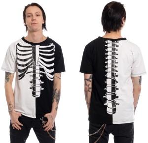 Tshirt Skelett Fracture Heartless