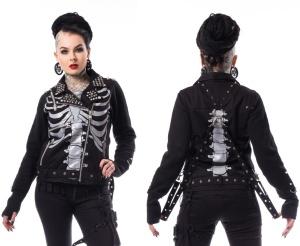Julia Jacket Heartless Damen Skelett Jacke mit Nietenbesatz