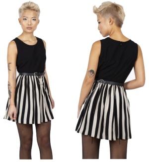 Circ le Soir Striped Skater Dress Jawbreaker
