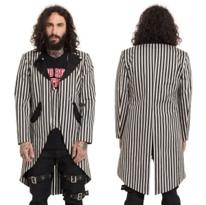 Freakshow Coat Mantel schwarz/weiss gestreift Jawbreaker
