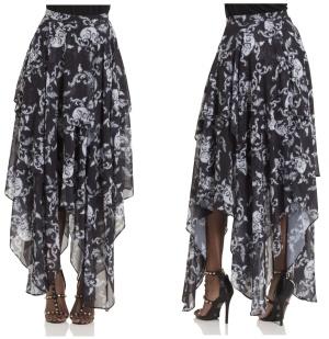 Gothicrock mit Zipfelsaum Banshee Skirt Jawbreaker bis Plussize