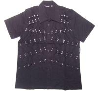 Männer Workerhemd Schnürung Dead Threads