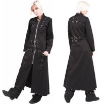Damenmantel Gothic mit vielen Ringen Dead Threads