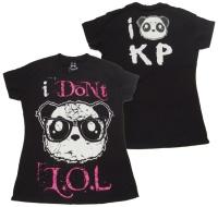 Girl Tshirt I dont lol Killer Panda