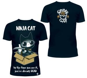 Ninja Cat T-Shirt Cupcake Cult