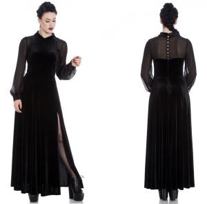 Estelle Dress Spin Doctor Langes Gothickleid bis Plussize