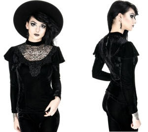 Gothic Samt Bluse Restyle