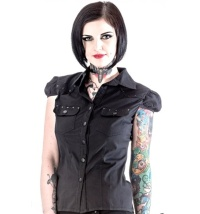 Gothic Bluse von Queen of Darkness