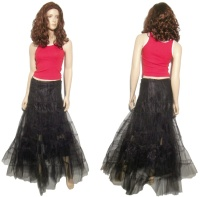 Langer Tüllrock Unterrock Petticoat Queen Of Darkness