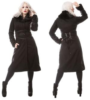 Gothicmantel Ladies Kunstpelzkragen Secret Vixxsin