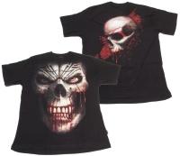 Tshirt Skull Shock Spiral