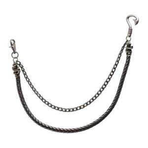 Hosenkette Schlüsselkette Leder+Metall