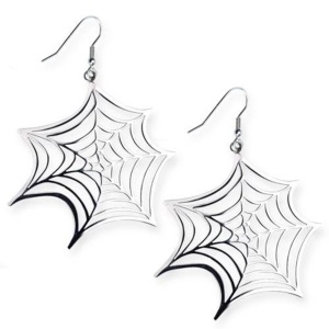 Gothicschmuck Ohringe Spinnennetz Nu Goth