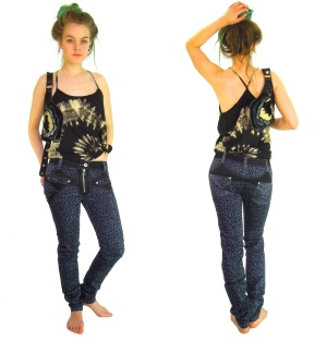 Jeans Leopardenmuster