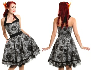 Alisa Dress Rock n Roll Kleid Bandana Muster Rockabella