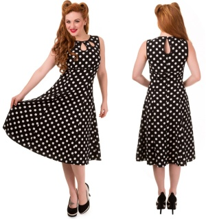 Rock n Roll Kleid/Vintagekleid Polkadot Banned