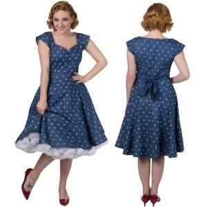 Rockn Roll Kleid jeansblau