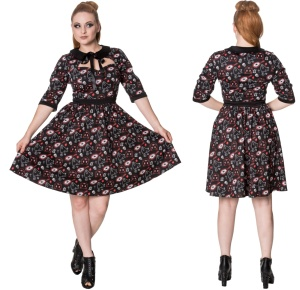 Two Faced Dress Rockabilly Kleid Banned