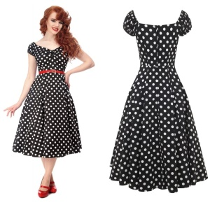 Petticoatkleid/Rock n Roll Kleid Dolores Doll gepunktet Collectif