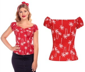 Dolores Top 50iger Jahre Collectif Palmenprint