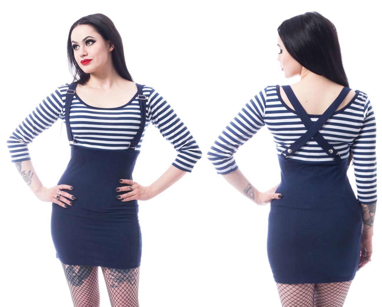 26a3e49a511117 Stretchkleid im Matrosenstil Sailor Dress Rockabella - Rockabella ...